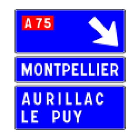 Signalisation : Panneaux de direction D31f