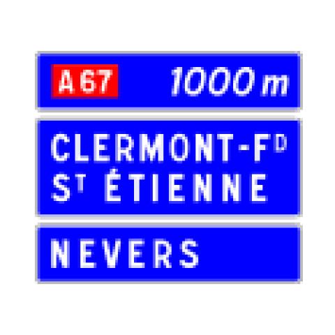 Signalisation : Panneaux de direction D41c