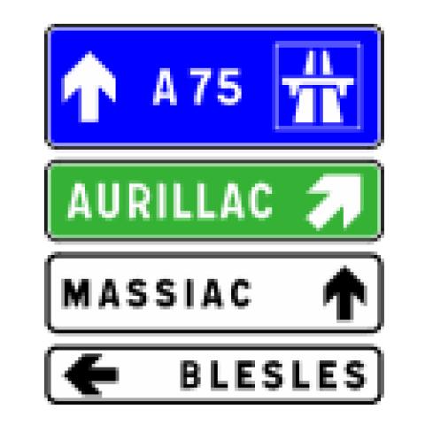 Signalisation : Panneaux de direction D43