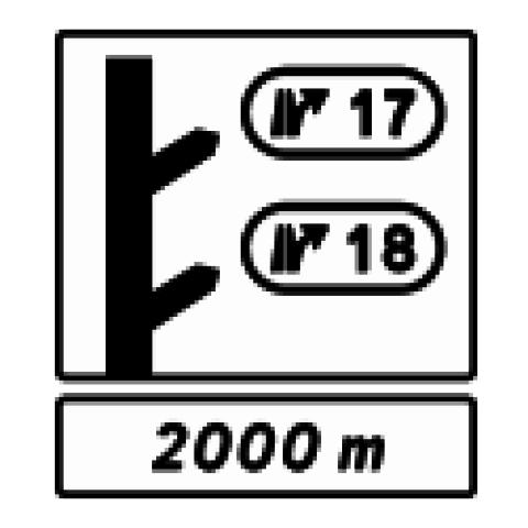 Signalisation : Panneaux de direction D51d