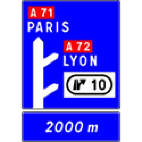 Signalisation : Panneaux de direction D52c