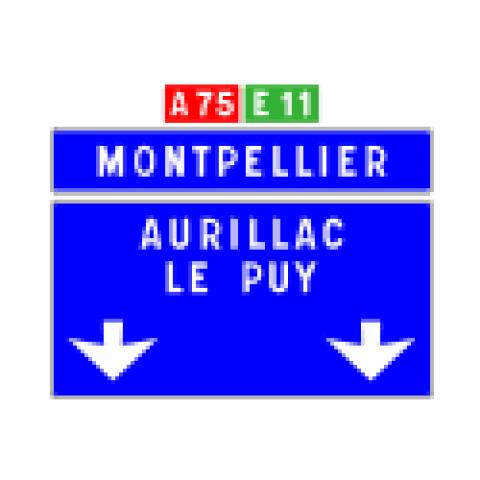 Signalisation : Panneaux de direction D62c