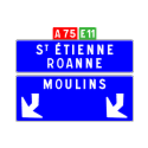Signalisation : Panneaux de direction D62d
