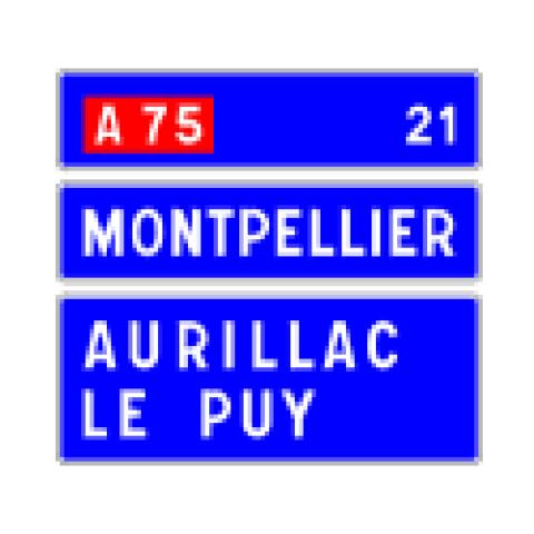 Signalisation : Panneaux de direction D63d