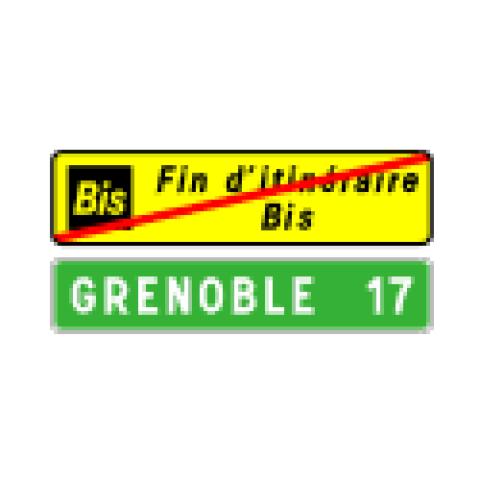 Signalisation : Panneaux de direction D69b