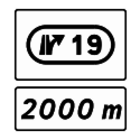 Signalisation : Panneaux de direction D73