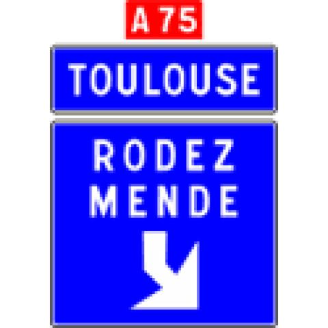 Signalisation : Panneaux de direction Da31f