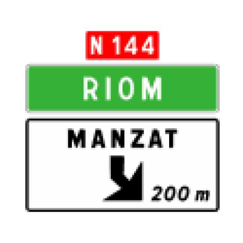 Signalisation : Panneaux de direction Da41e