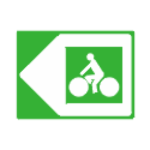 Panneaux de jalonnement cycliste Dv21c