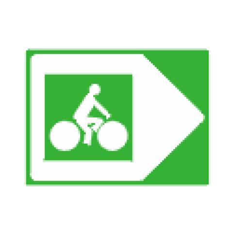 Panneaux de jalonnement cycliste Dv21c1