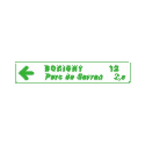Panneaux de jalonnement cycliste Dv43a1