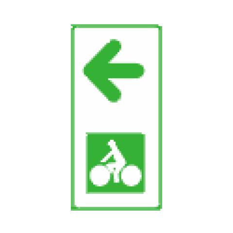 Panneaux de jalonnement cycliste Dv43d