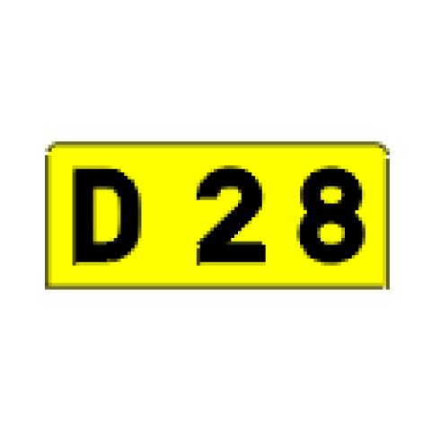 Signalisation : Panneaux de localisation E43