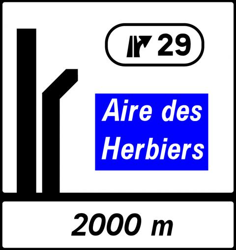 Signalisation : Panneaux de direction Da51br