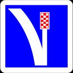 panneau indication C26a voie de détresse à droite
