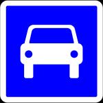 Panneau indication C107 route à acces règlementée