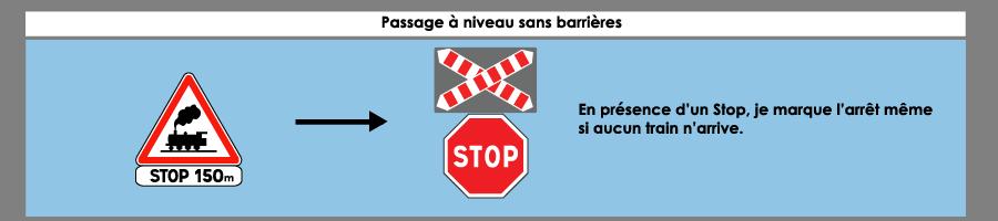 passage à niveau sans barriere avec stop