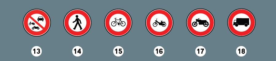 les panneaux d'interdiction 5