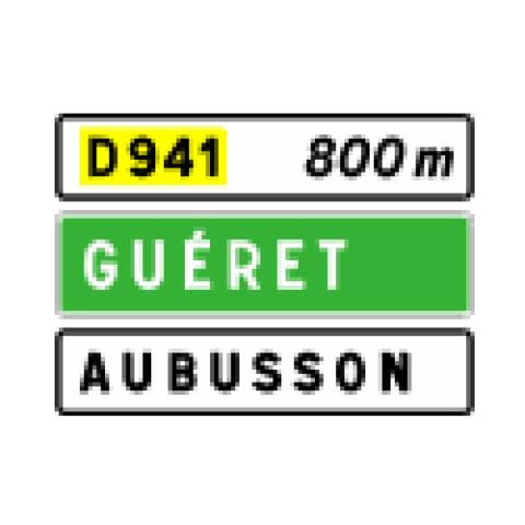 Signalisation : Panneaux de direction D41b