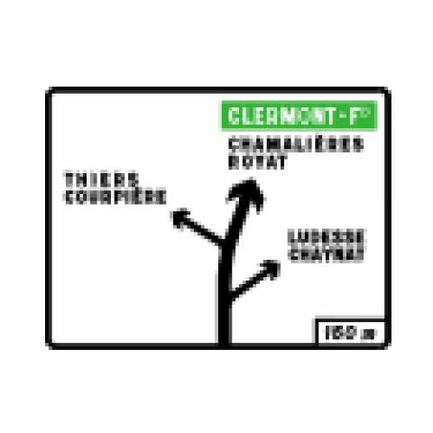 Signalisation : Panneaux de direction D42a