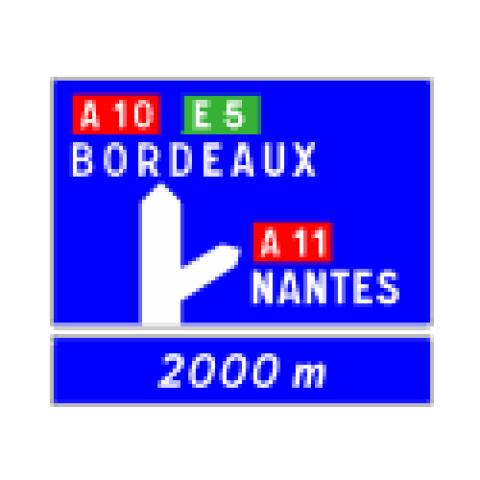 Signalisation : Panneaux de direction D52a