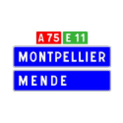 Signalisation : Panneaux de direction D62b