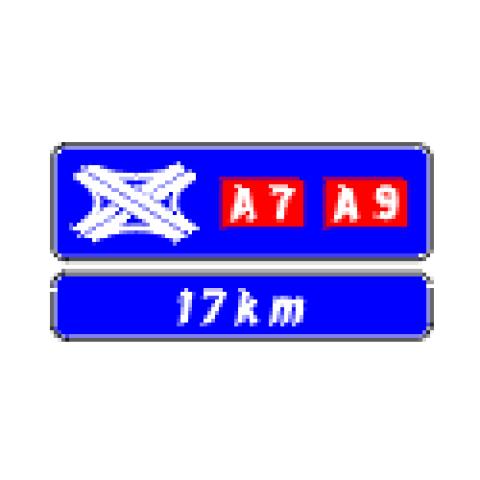 Signalisation : Panneaux de direction D64