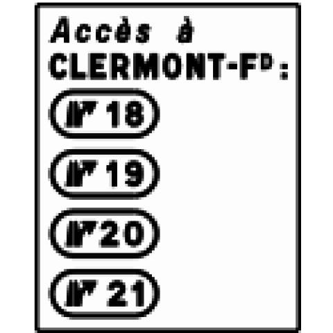 Signalisation : Panneaux de direction D72b