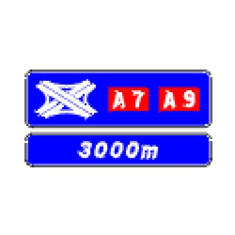 Signalisation : Panneaux de direction D74a