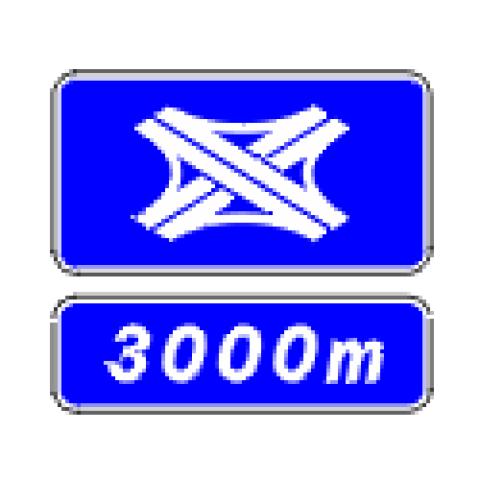Signalisation : Panneaux de direction D74b