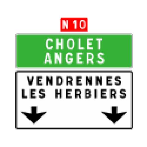 Signalisation : Panneaux de direction Da31b
