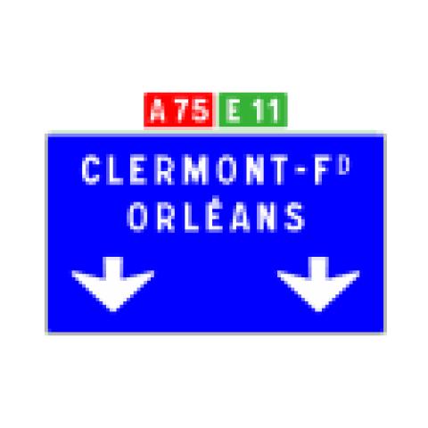 Signalisation : Panneaux de direction Da31c