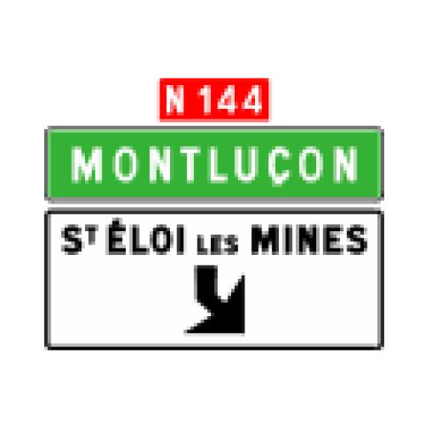 Signalisation : Panneaux de direction Da31e