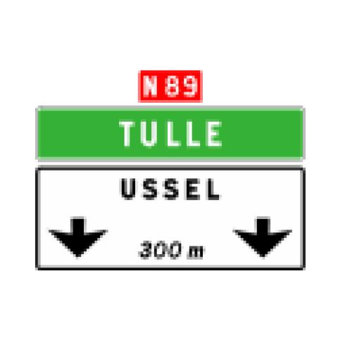 Signalisation : Panneaux de direction Da41b