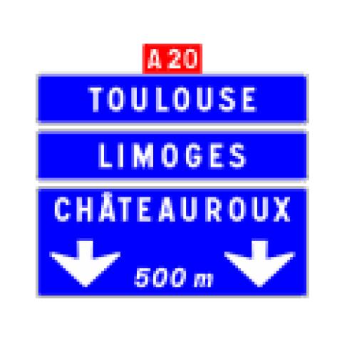 Signalisation : Panneaux de direction Da41c