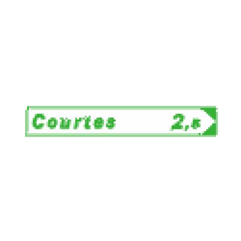 Panneaux de jalonnement cycliste Dv21a1