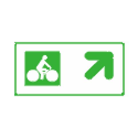 Panneaux de jalonnement cycliste Dv43c