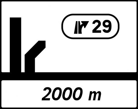 Signalisation : Panneaux de direction Da51b