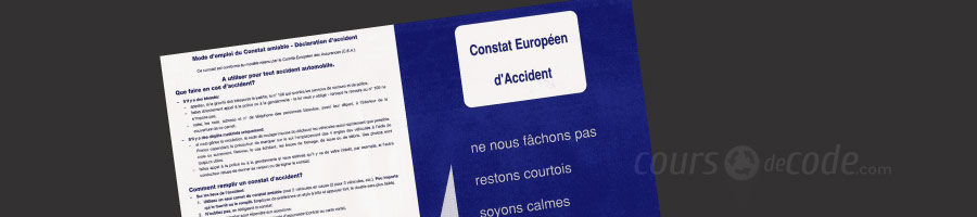 constat amiable europeen