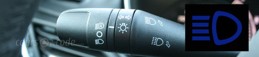 commande feux de route feux de route