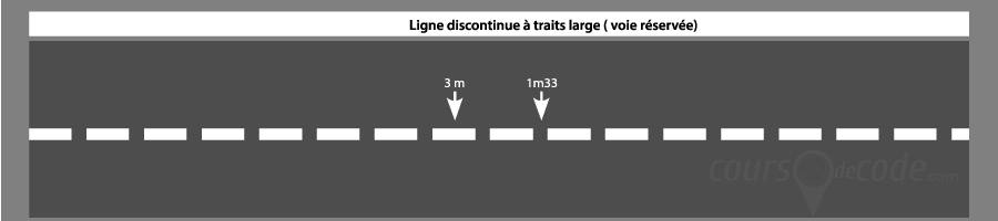 ligne de disuasion à trait large